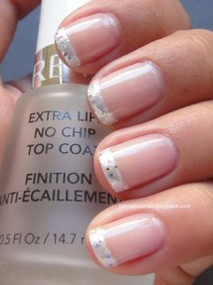 glitter french tips - Color Combos CBL104, Midie French Manicure Shiny Color, Kleancolor Winter Wonderland