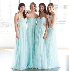 Ava Clara welcomes Wtoo Bridesmaids! Pictured in the color of the season, mint. Watters.com