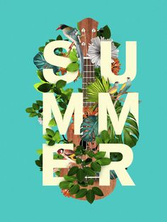 Nice island summer feel. plus I love any type that's worked into graphics like this.