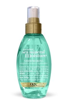 Organix sea mineral moisture shimmering weightless moisture replenisher. OMG I can't say how much I love this leave in spray. My HUSBAND even loves putting it in his hair! Its amazing my hair is silk and already feels so healthy:D