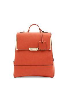 Orange Flip Lock Backpack