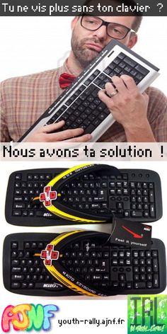 J-17 avant la fin des inscriptions !! Tu ne vis plus sans ton clavier ? Nous avons ta solution !
