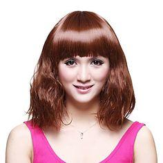 High Quality Capless Medium Synthetic Pop Wavy Wig – WigSuperDeal.com