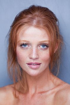 Recessive Genes = Beautiful!!!! I Love freckles, blue eyes, and natural red hair