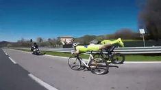 guy rides bike horizontally