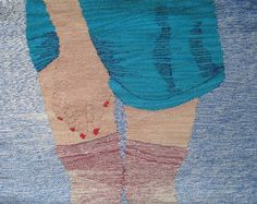 Thigh Highs 2, 2013.  Hand woven wool tapestry.  Erin M Riley