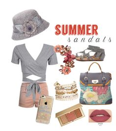 """""""Untitled #118"""" by shirleyarrington on Polyvore featuring Breckelle's, SWG, Agent 18, Panacea, New Look, Smashbox, Estée Lauder and summersandals"""