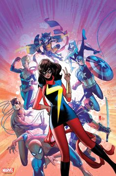 In April, Marvel kicks off new titles, wraps Avengers: No Road Home, and braces itself for the ignition of The War of the Realms event. Marvel Comics, Dc Comics Women, Marvel Memes, Young Avengers, Marvel Avengers, Ms Marvel Kamala Khan, Superhero Characters, Batman, Comics Universe