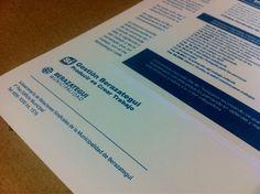 Últimos trabajos: impresión de folletos para la Municipalidad de Berazategui