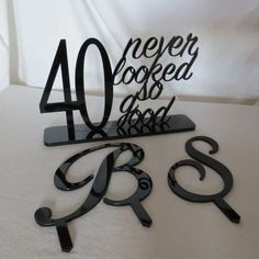 Customised Acrylic Cake Toppers