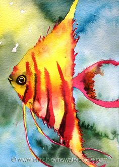 Original and Prints available. Original measures 5 x 7 and is unmatted/unframed. I started this fish painting while I was preparing to teach a two-day Tropical Watercolor Fish, Watercolor Artists, Watercolor Animals, Watercolor Paintings, Watercolors, Fish Artwork, Fish Drawings, Animal Paintings, Tropical