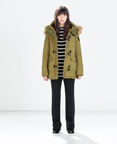 Image 1 of PUFFER PARKA WITH TOGGLES from Zara
