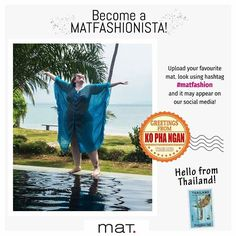❤️ Become a matfashionista! Greetings from #Thailand 🇹🇭 Ανέβασε το αγαπημένο σου mat. look στο instagram με hashtag #matfashion και μπορεί να δεις την φωτογραφία σου στα κοινωνικά μας δίκτυα! 📸Ευχαριστούμε τη φίλη @melanie_rubenesque_ Melanie Dellenbach για την υπέροχη φωτογραφία της, φορώντας #matfashion καφτάνι της προηγούμενης καλοκαιρινής συλλογής, στις Χριστουγεννιάτικες διακοπές της στην Ταϊλάνδη! #matfashionistas #kophangan