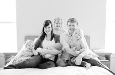 Newborn photography at home with all of the family is perfection! Photography by Brittany Cascio