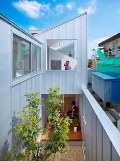 The Complex House is a single-family residence located in Nagoya, Japan that was designed by Tomohiro Hata Architects. The home features a series of five alternating pitched roofs that allow for many small rooms as per the homeowner's wishes