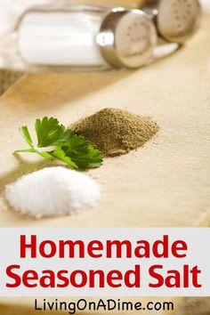 Homemade Seasoned Salt Recipe - Homemade Seasonings Mixes And Blends