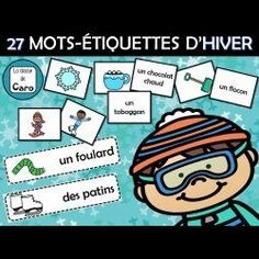 27 MOTS-ÉTIQUETTES D'HIVER Core French, French Classroom, Second Language, Teaching French, Learn French, About Me Blog, Teacher, Activities, Boutique