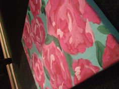 Lilly Pulitzer painted canvas