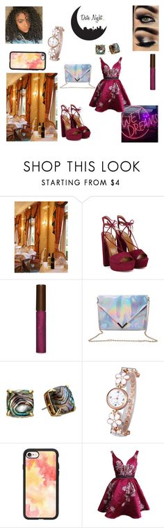 """""""Date night with cherry blossoms"""" by keneko17therainbowprincess on Polyvore featuring Aquazzura, Fashion Fair, Kate Spade and Casetify"""