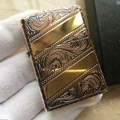 Japanese Smoked Copper Arabesque Zippo Lighter