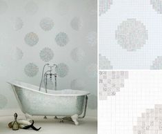 All done in tiny mosaic tiles...amazing work. No body does tile better than Bisazza Mosaico