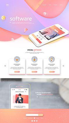 20-24세/__적합한콘텐츠/곡선/남자/돋보기/동양인/메인페이지/모바일/분석/비즈니스/비즈니스맨/사람/상반신/소프트웨어/스마트폰/애플리케이션/어른/웹템플릿/웹페이지/젊은남자/청년/한국인/휴대폰 Website Layout, Web Layout, Layout Design, Website Ideas, Site Design, App Design, Ui Design Inspiration, Ui Web, Web Design Trends