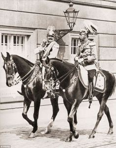 King Georg V of the British Empire and Kaiser Wilhelm II of the German Empire enjoy a horse ride together through the streets of Berlin during the British monarch's visit to the country. The two monarchs were in fact directly related to one another, both sharing the same grandmother, Queen Victoria of the British Empire. Little did they know at the time this picture was taken that the quarrel the two shall engage in the coming years will be far greater than just a simple domestic dispute.