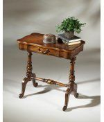 Butler Specialty 1390024 Plantation Cherry Accent Table in Plantation Cherry by Butler Specialty. $209.00. Traditional Accent Table in Plantation Cherry from the Plantation Cherry Collection by Butler Specialty. Dimensions: 26.00 H 24.00 W - 1390024