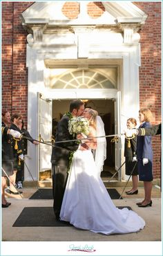 travel themed wedding, bride and groom, Naval Station Norfolk Chapel, Fresh Look Photography, Vivid Expressions, travel wedding, mr and mrs, just married, sword arch
