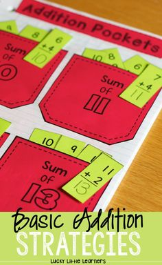 Basic Addition Strategies are fun to teach with interactive notebooks. Addition games, addition activities, and addition practice are all included in this notebook. These math activities are perfect for guided math and math centers. Math Addition, Addition Activities, Addition Games, Math Activities, Simple Addition, Math Notebooks, Interactive Notebooks, Addition Strategies, Interactive Learning