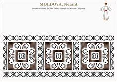 Folk Embroidery, Embroidery Stitches, Embroidery Patterns, Cross Stitch Patterns, Knitting Patterns, Mochila Crochet, Point Lace, Moldova, Bargello