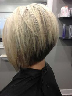 Image result for blonde inverted stacked bob