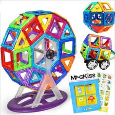 56pcs magnetic building blocks Magnetic sheet blocks Variety pulling magnetic sheet Educational toys for children //Price: $US $50.40 & FREE Shipping //     #clknetwork