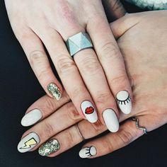 65 Ideas For Nature Nails Designs Style Beautiful Nail Designs, Cute Nail Designs, Cute Nails, Pretty Nails, Hair And Nails, My Nails, Nail Manicure, Nail Polish, Nail Arts