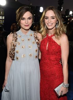 Critics Choice 2015: Keira Knightley and Emily Blunt. Two of my favorites!