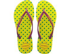 Havaianas Women's SLIM FRESH POP-UP in Neon Yellow