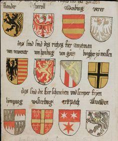 Wappenbuch des St. Galler Abtes Ulrich Rösch Heidelberg · 15. Jahrhundert Cod. Sang. 1084  Folio 27