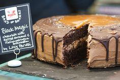 Black magic cupcakes with Baileys salted caramel buttercream supergolden bakes