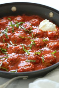 """Eggplant """"Meatballs"""" –hearty eggplant is one of the best vegetable substitutes to make these luscious, meatless """"meatballs"""". Cheap Vegetarian Meals, Vegetarian Recipes, Cooking Recipes, Healthy Recipes, Ww Recipes, Weeknight Recipes, Cleaning Recipes, Skinny Recipes, Vegetarian Cheese"""