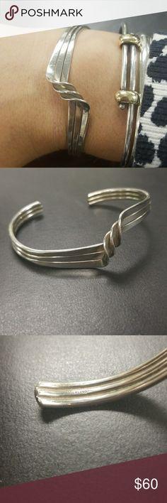 Sterling twist bracelet Adjustable, Sterling, a classic bracelet! Great stackable as well! Jewelry Bracelets