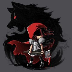 she's not afraid of the big bad wolf