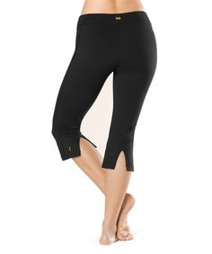 Another great find on #zulily! Lucy Black Lotus Capri Pants #zulilyfinds