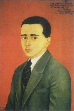 Portrait of Alejandro Gómez Arias, 1928 Frida Kahlo - WikiArt.org