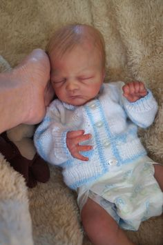 Reborn Baby Boy *Corbin by Donna Lee* Preemie ~LOTS OF DETAIL~ Too cute!
