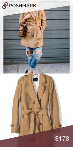 44eae7929b9 Classic Tan Trench Coat Classic tan trench coat. 52% cotton