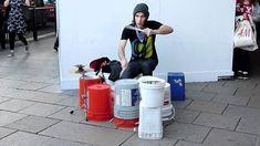 Phil Bondy, World's greatest street drummer, bucket drummer - London