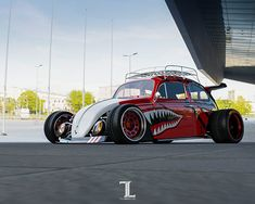 Fast sketch of mad and wide Volkswagen Beetle with Posrche wing, Hot Wheels inspired. Vw Rat Rod, Vw Vintage, Kart, Vw Cars, Modified Cars, Vw Beetles, Custom Cars, Motor Car, Vinyls