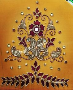 Cutwork Blouse Designs, Simple Blouse Designs, Bridal Blouse Designs, Hand Work Design, Hand Work Blouse Design, Hand Embroidery Design Patterns, Hand Work Embroidery, Traditional Blouse Designs, Maggam Work Designs