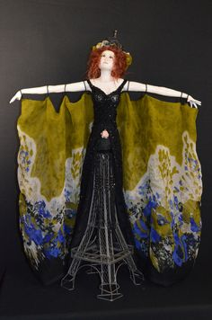 """This is my new paper clay mixed media art doll. She won a 2016 Gold award from PDMAG. I named this piece, """"Paris Rose"""" Paper Clay, More Pictures, Mixed Media Art, Art Dolls, Sculpting, Awards, Rose, Painting, Whittling"""