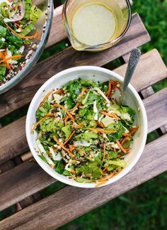 This mega crunchy salad is super healthy and totally irresistible! Vegan and gluten free. http://cookieandkate.com